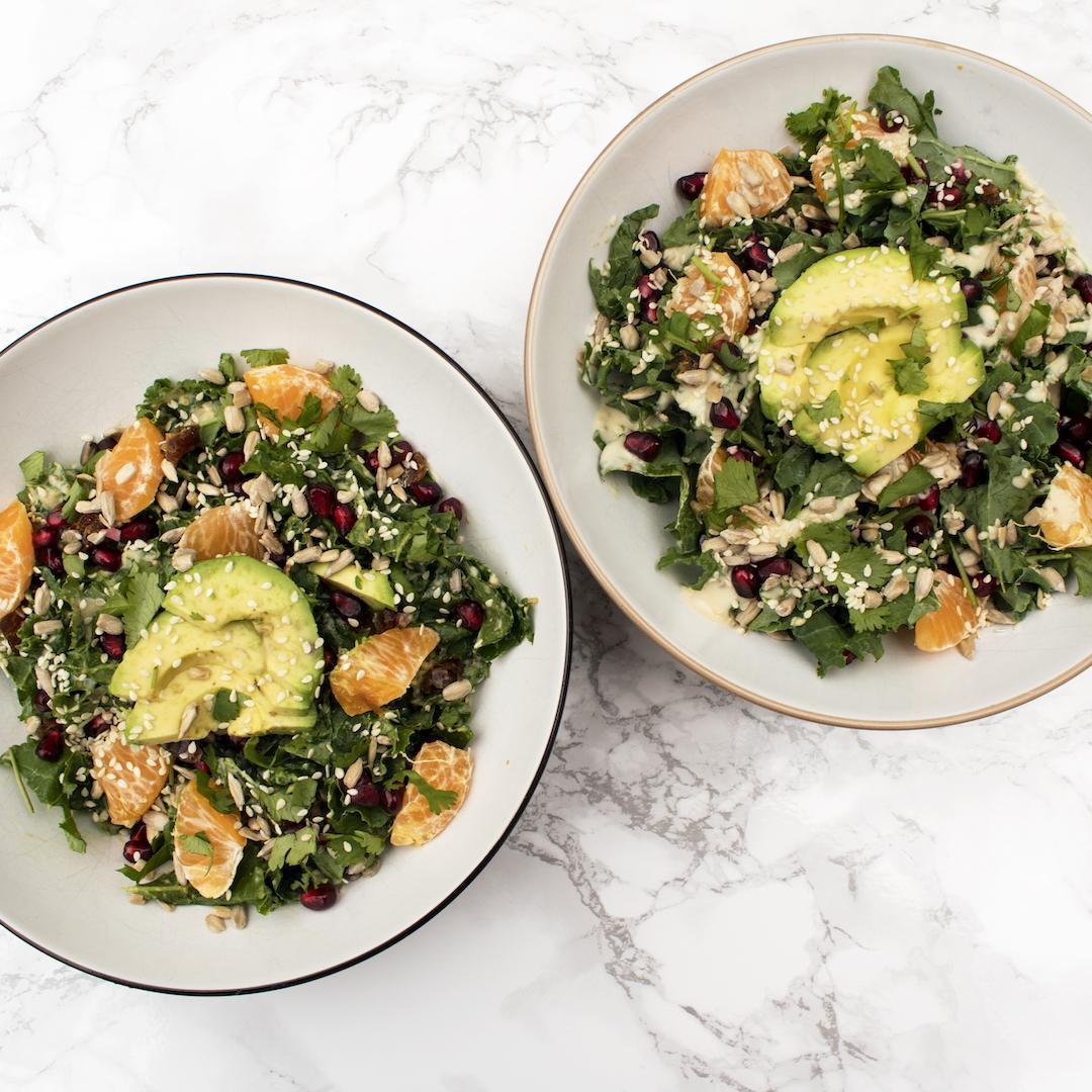 Creamy Tahini Kale Salad