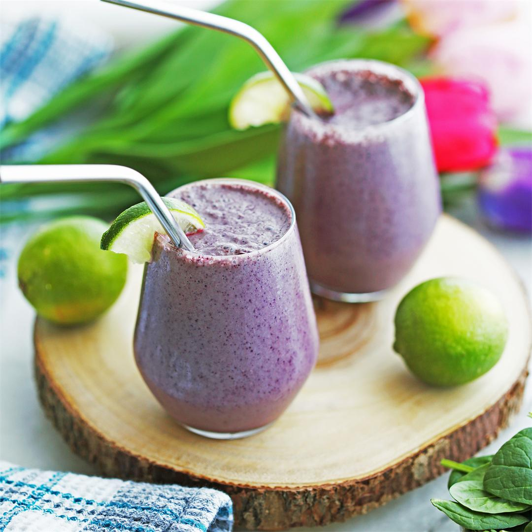 Blueberry Lime Yogurt Smoothies