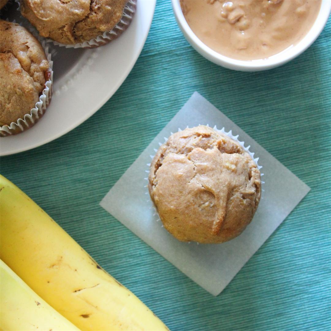 Gluten Free Peanut Butter Banana Muffins