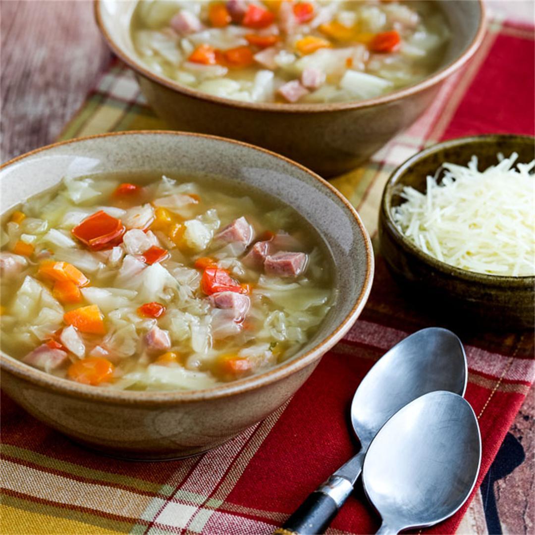 Instant Pot Low-Carb Ham and Cabbage Soup