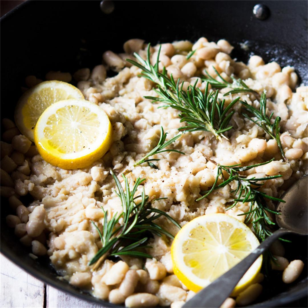 White Bean Mash with Lemon and Rosemary