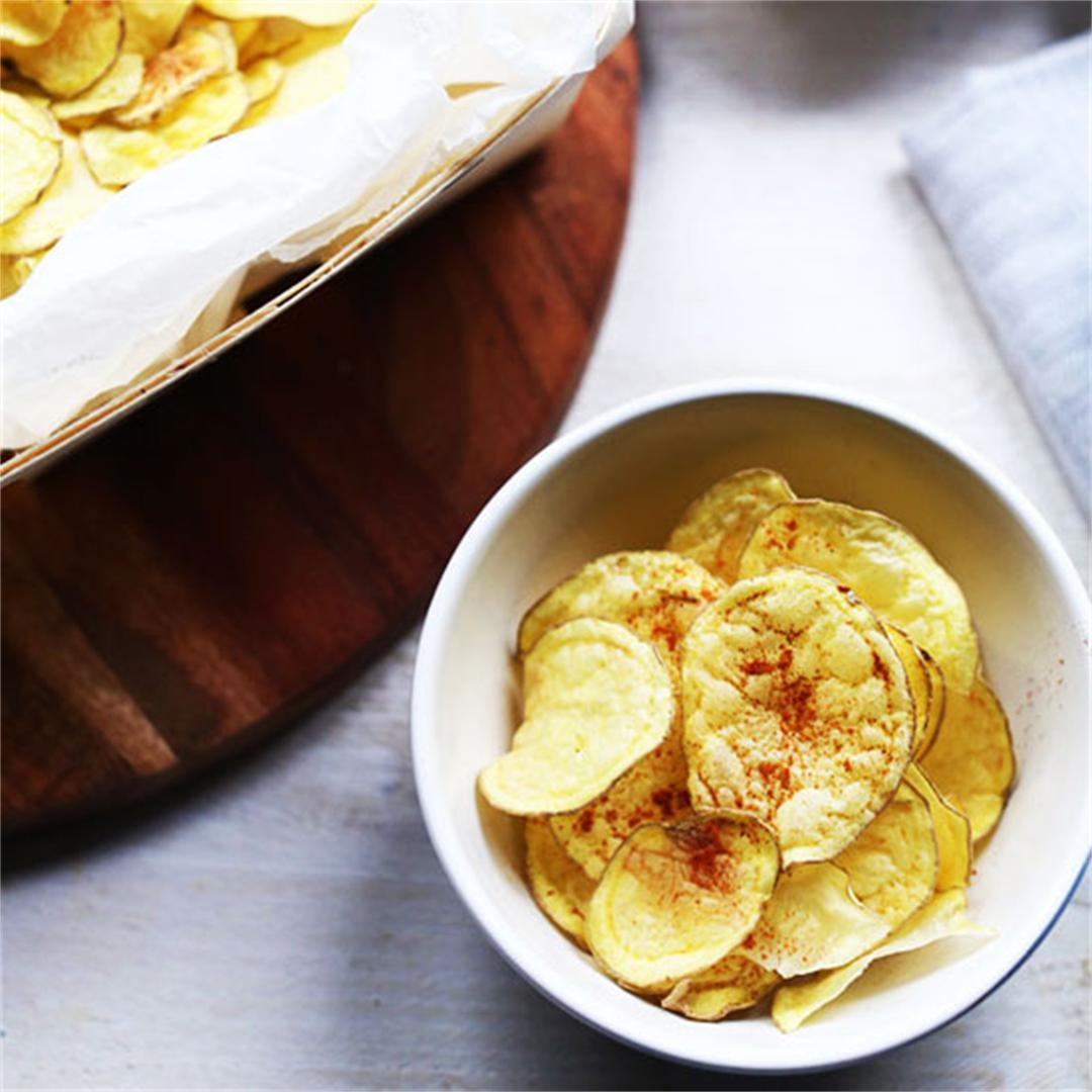 Crisp no fat potato chips