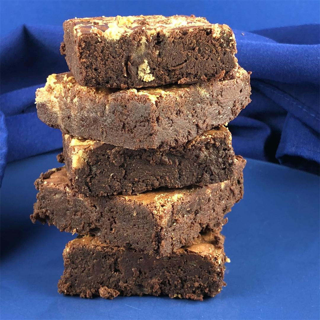 GF Dark Chocolate Tahini Brownies