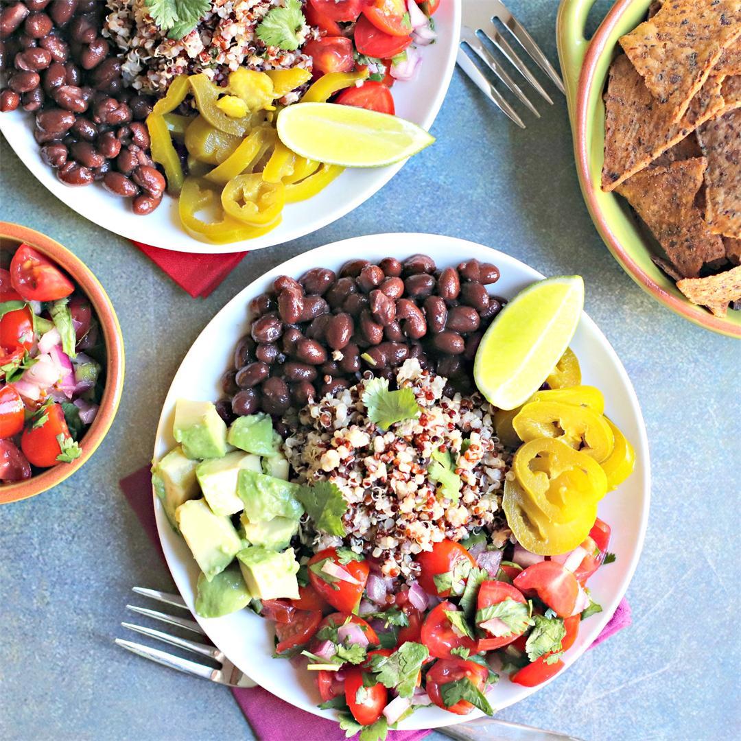 Quinoa Burrito Bowls (Vegan)