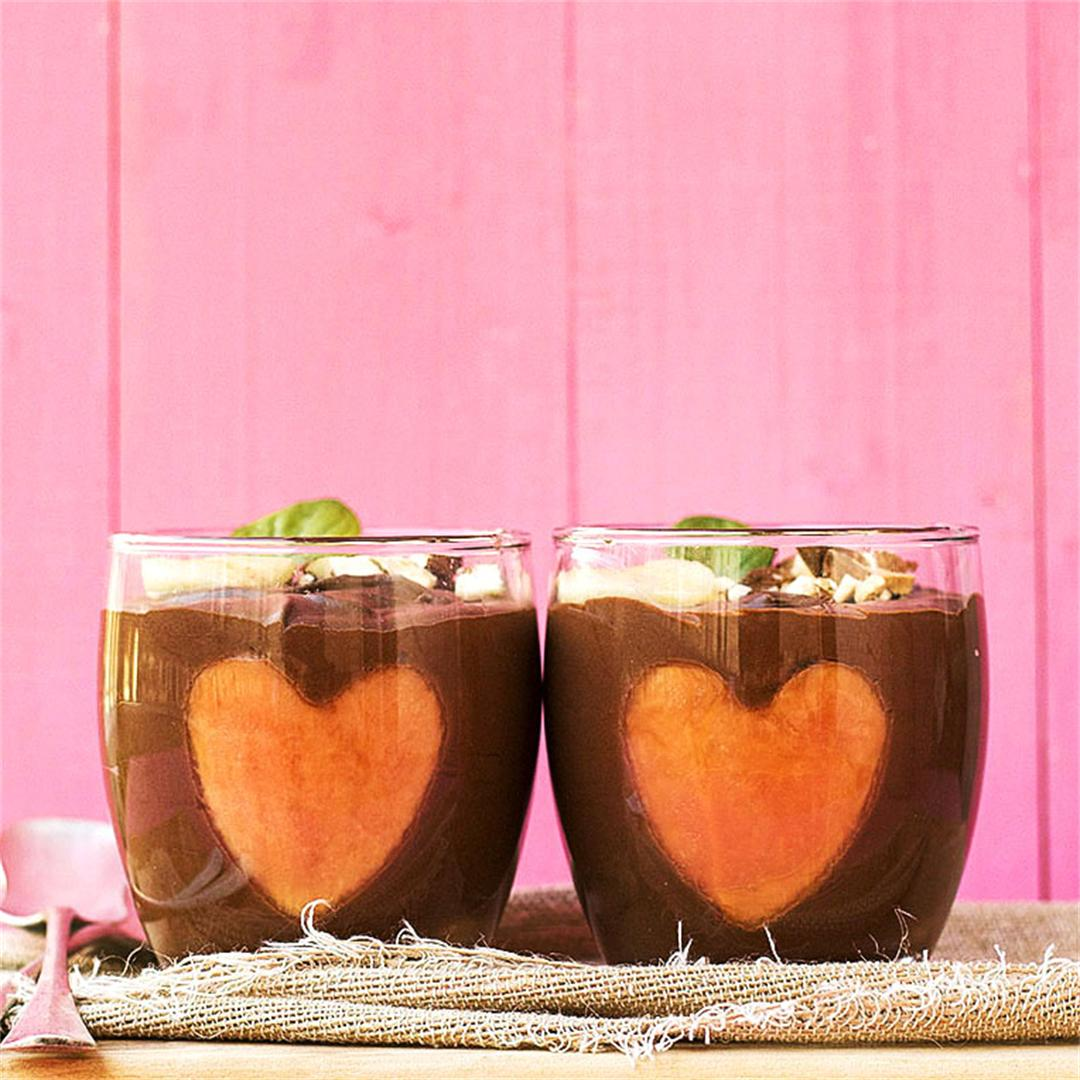 Almond milk & chocolate vegan mousse 2 ways