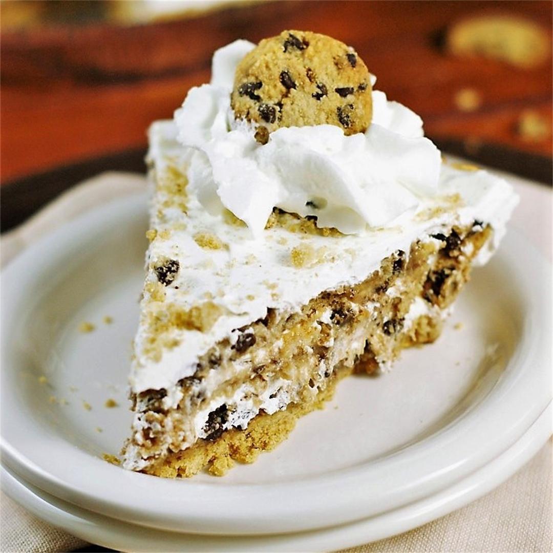 No-Bake Chocolate Chip Cookie Pie