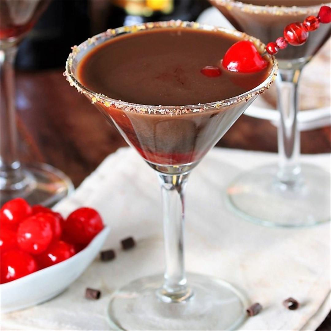 Chocolate Covered Cherry Martinis
