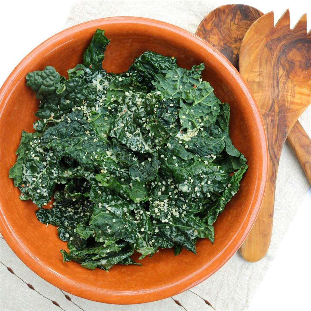 Kale Caesar + Dairy-Free Whole30 Dressing