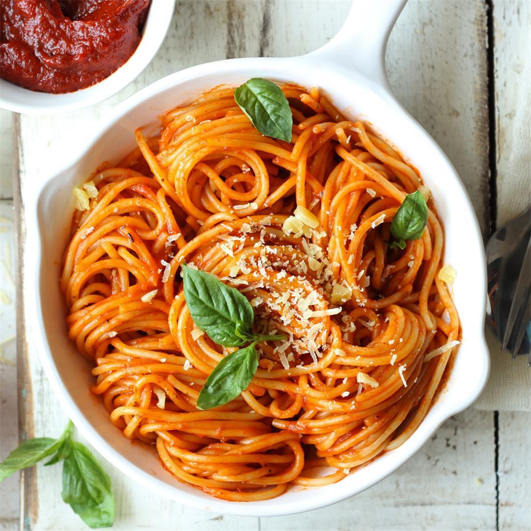 20 Minute Red Sauce Spaghetti