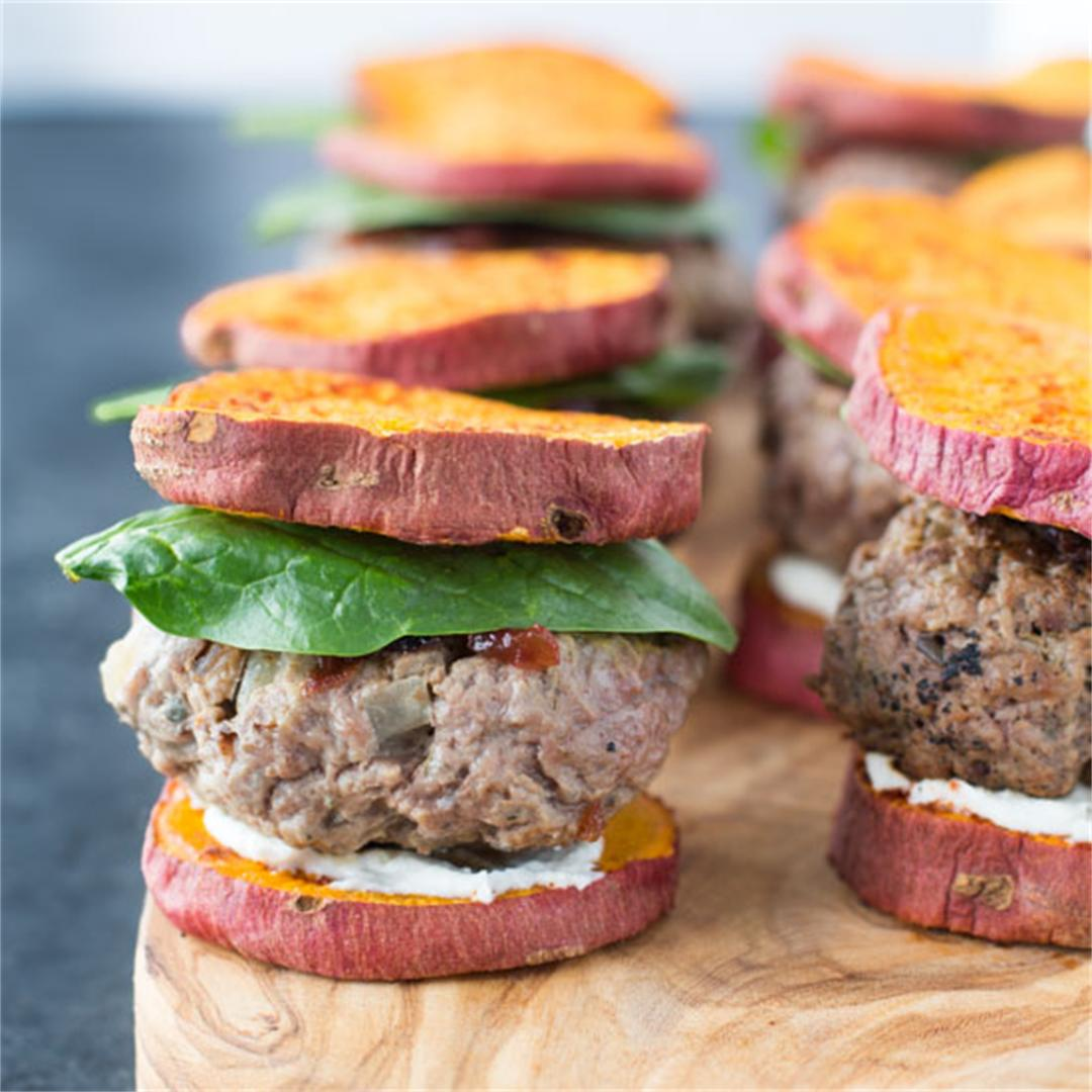 Cranberry & Goat Cheese Lamb Sliders