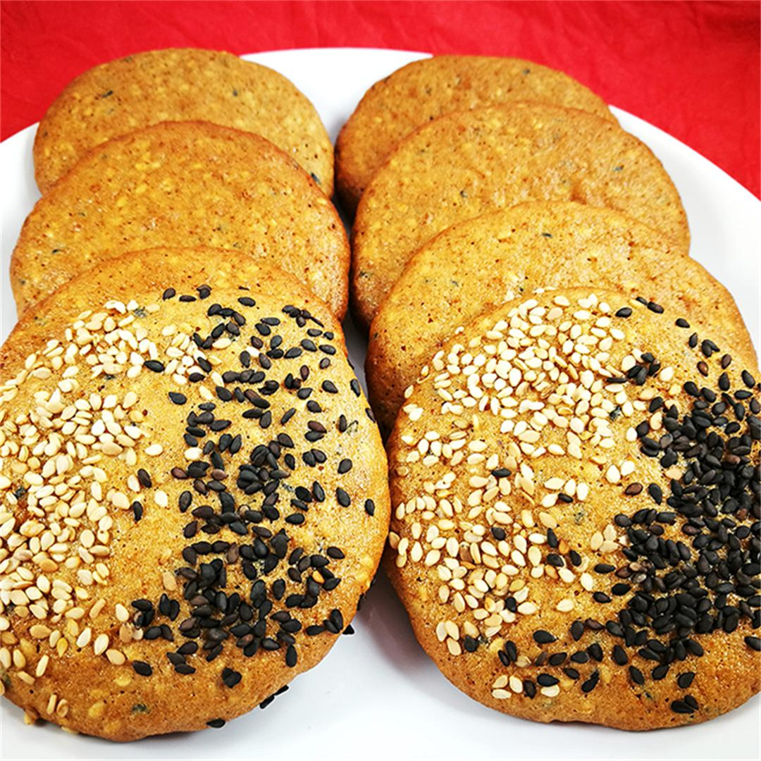 Crispy Sesame Cookies With Rice Flour