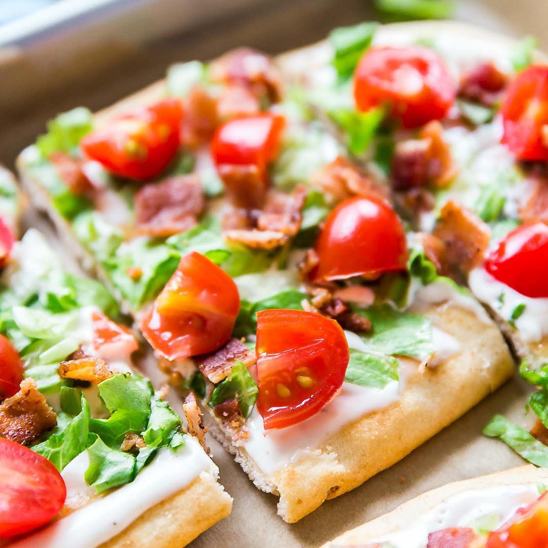 BLT Ranch Flatbread Pizza