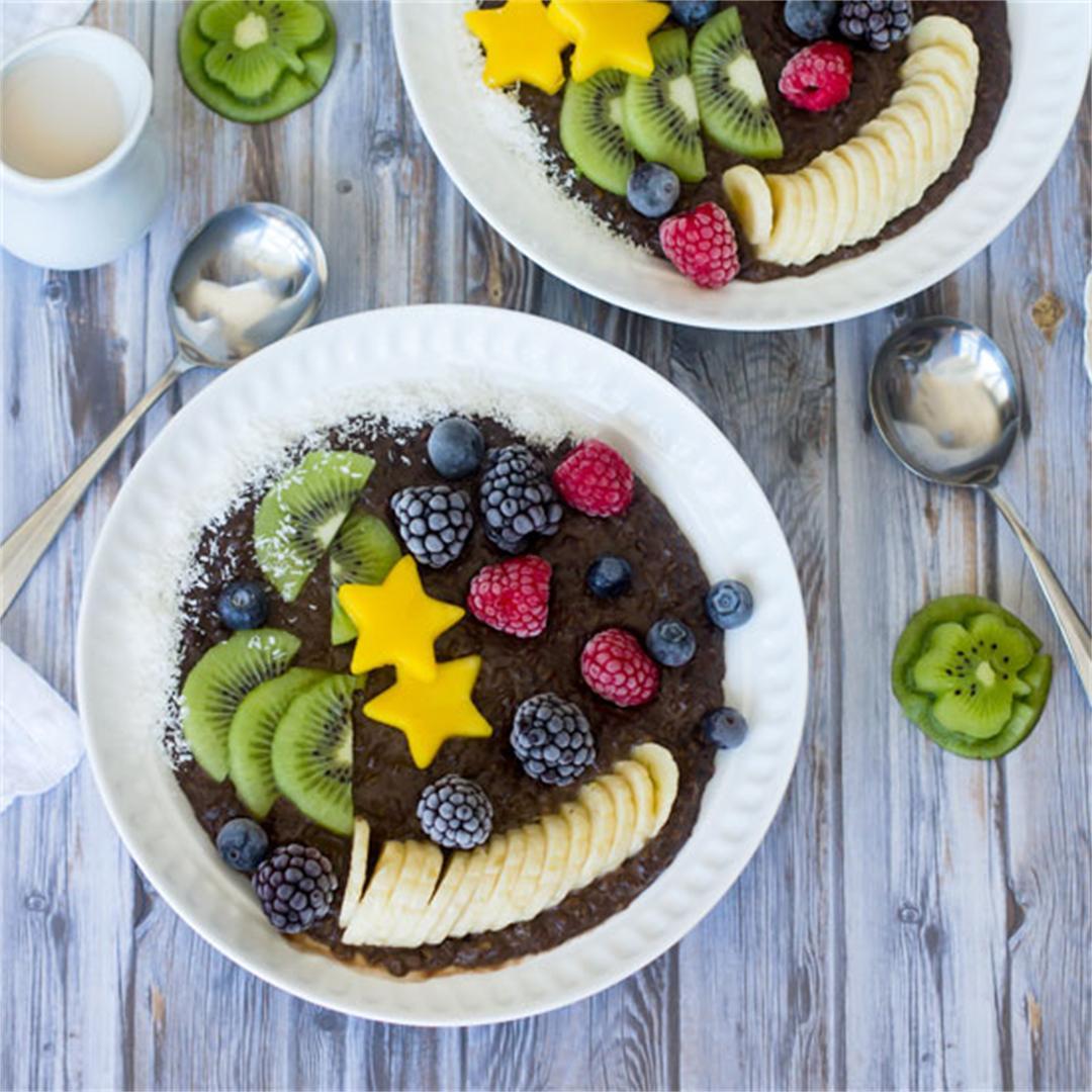 Irish Cream Chocolate Oatmeal Porridge