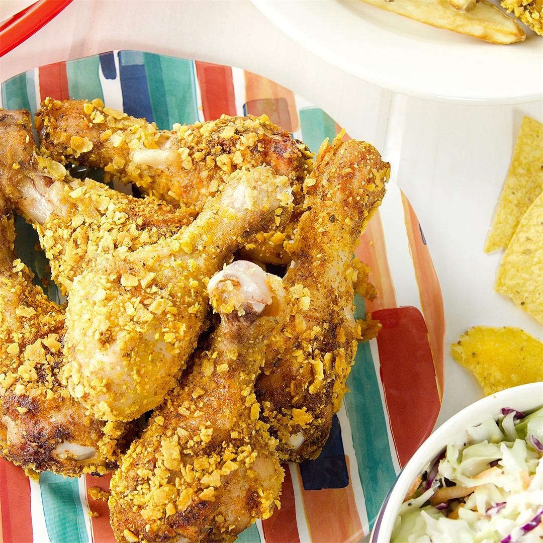 Crispy Baked Chicken Drumsticks with Mexican Inspiration