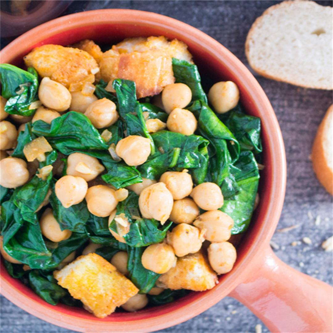 Spanish Spinach with Chickpeas