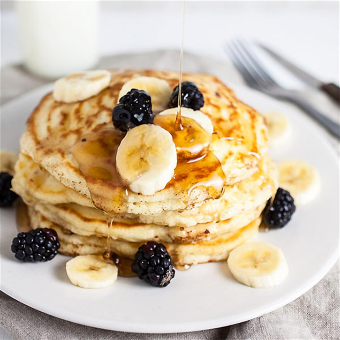 Old-Fashioned Banana Pancakes