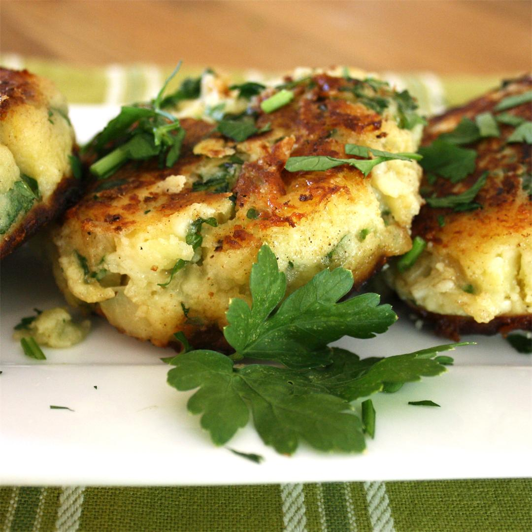 Cheese and Onion Potato Cakes