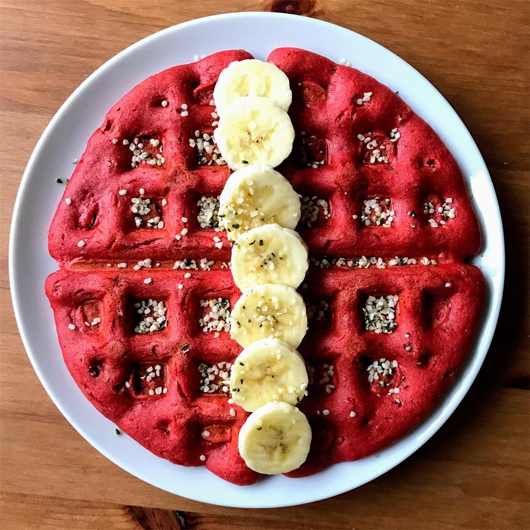 Vegan Red Velvet Waffles