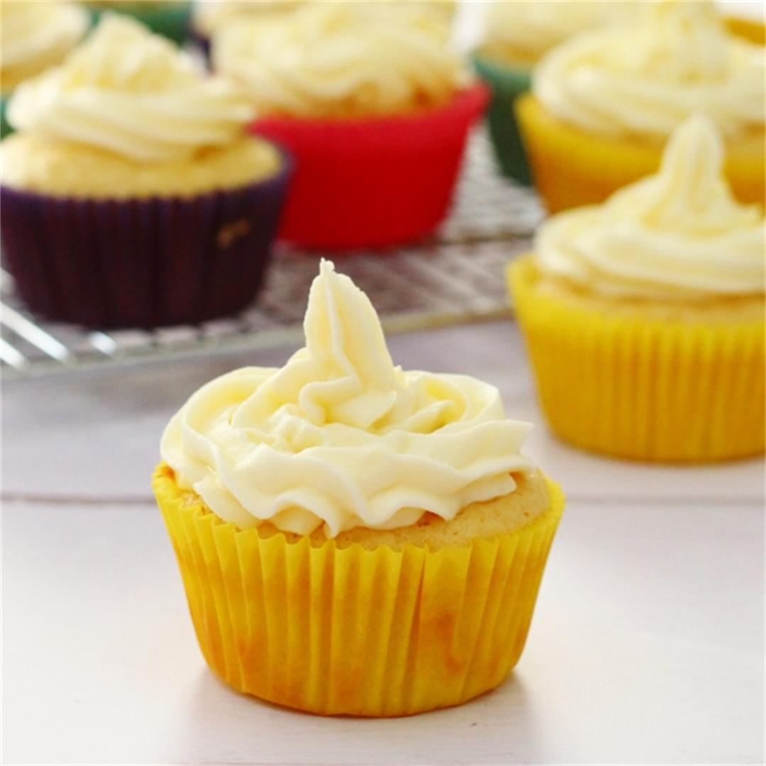 Zesty lemon cupcakes with lemon buttercream