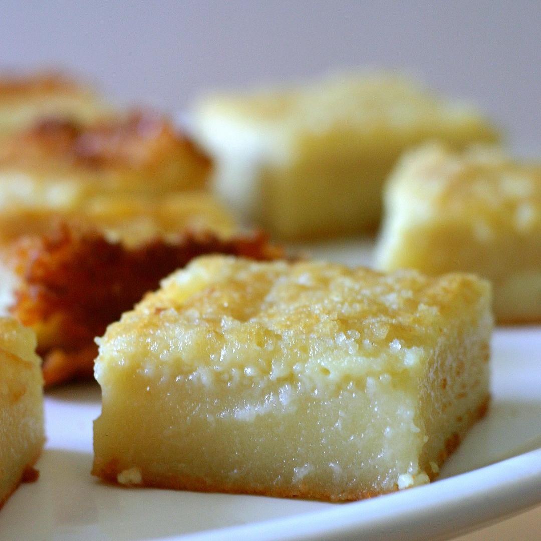 Butter Mochi and Custard Mochi