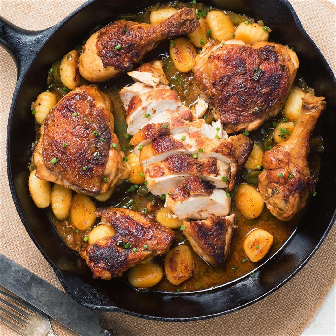 Cajun Roast Chicken Skillet