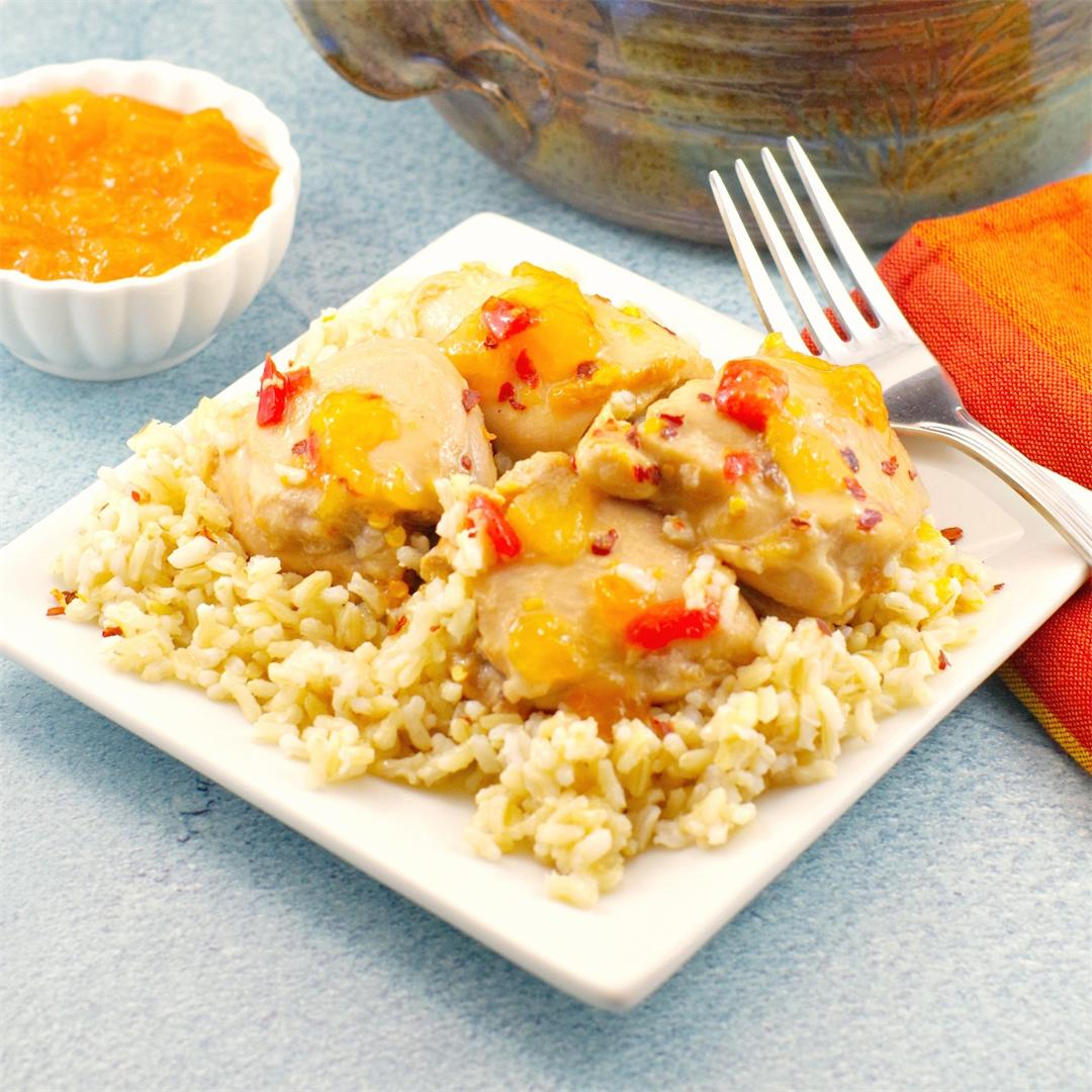 5 Ingredient Easy Apricot Chicken