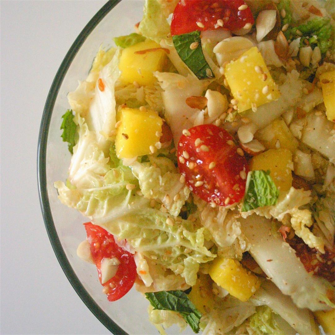 Nutty Mango and Napa Cabbage Slaw