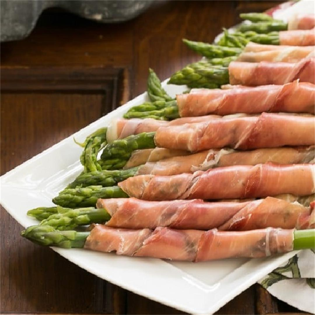 Prosciutto Wrapped Asparagus with Boursin