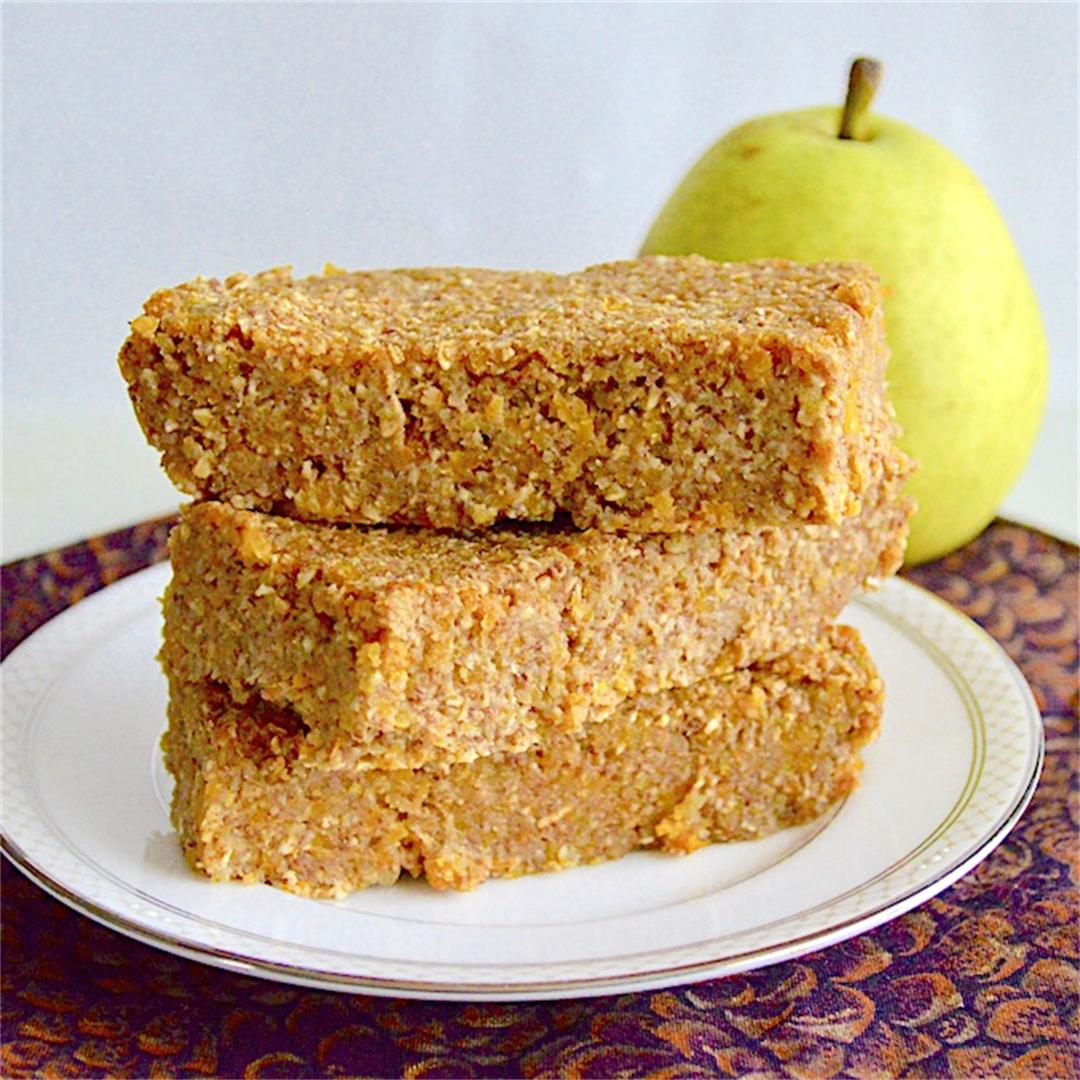Pear Apricot Snack Bars