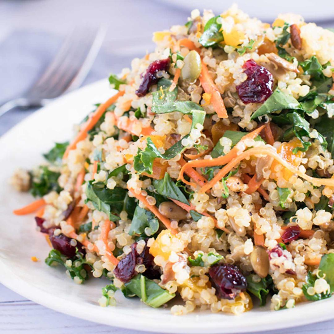 Winter Kale & Quinoa Salad with Citrus Vinaigrette