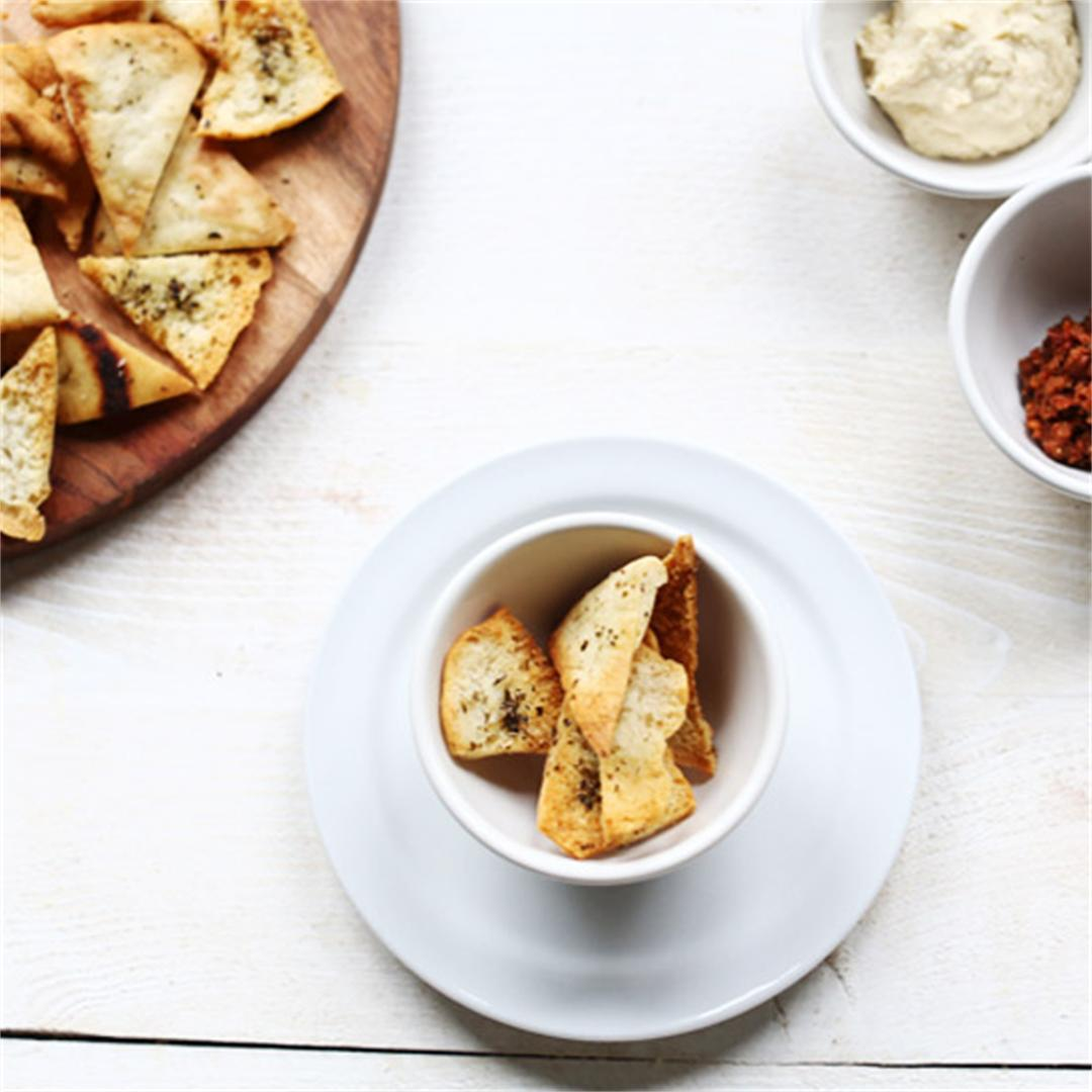 Delicious easy homemade pita chips