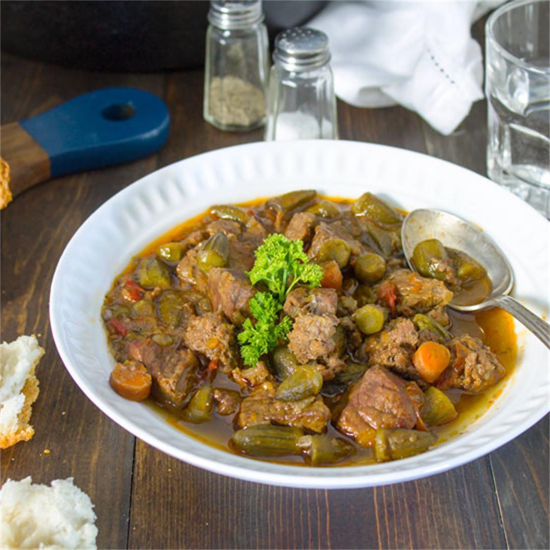 Mediterranean Okra Stew Recipe – Bamia
