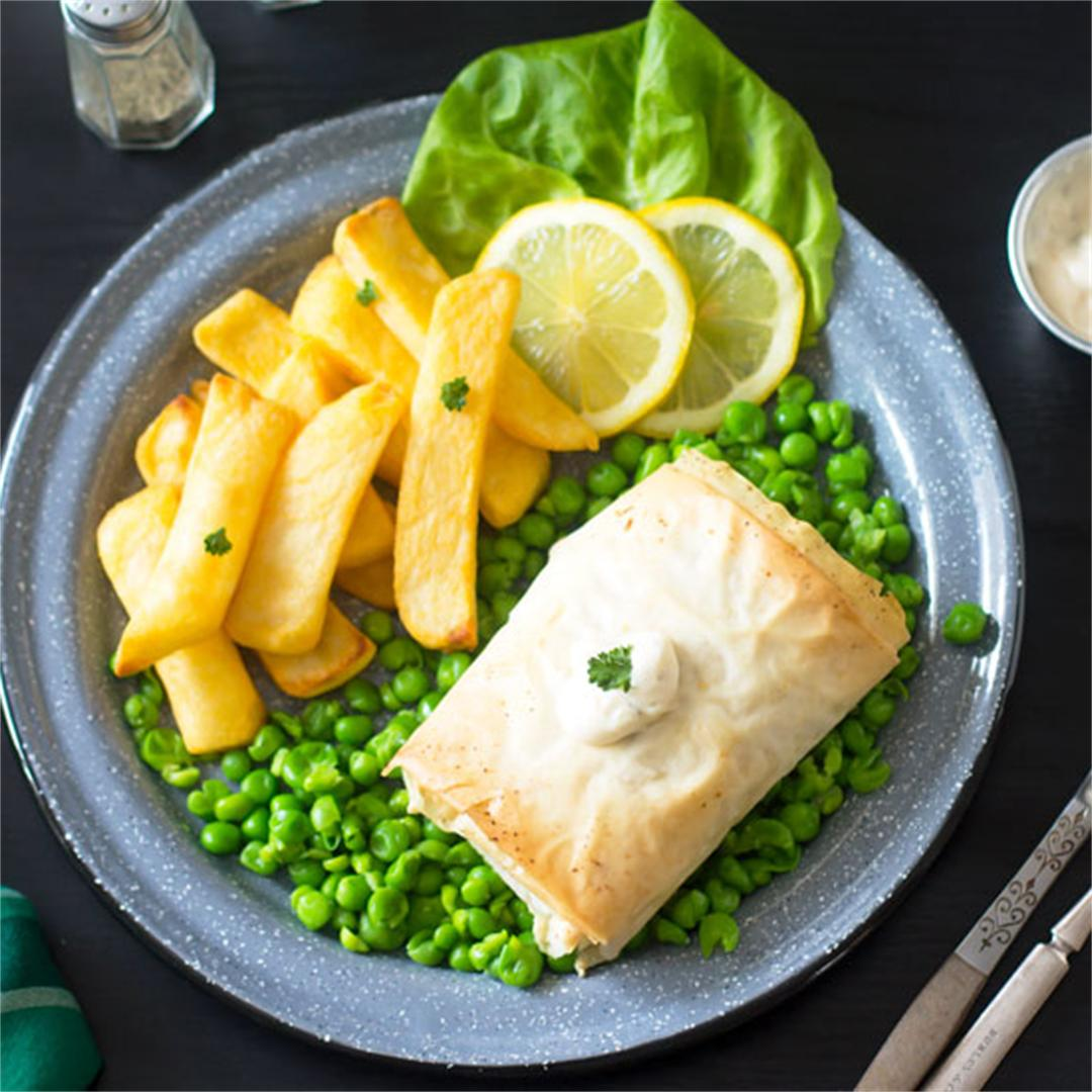Fillo Pastry Fish & Chips