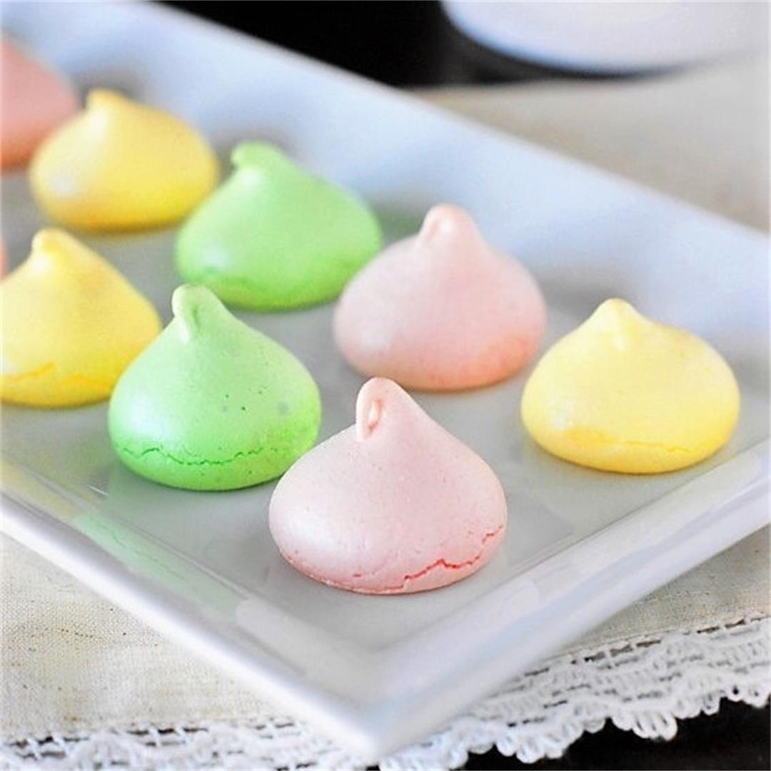 Pastel Meringue Cookies