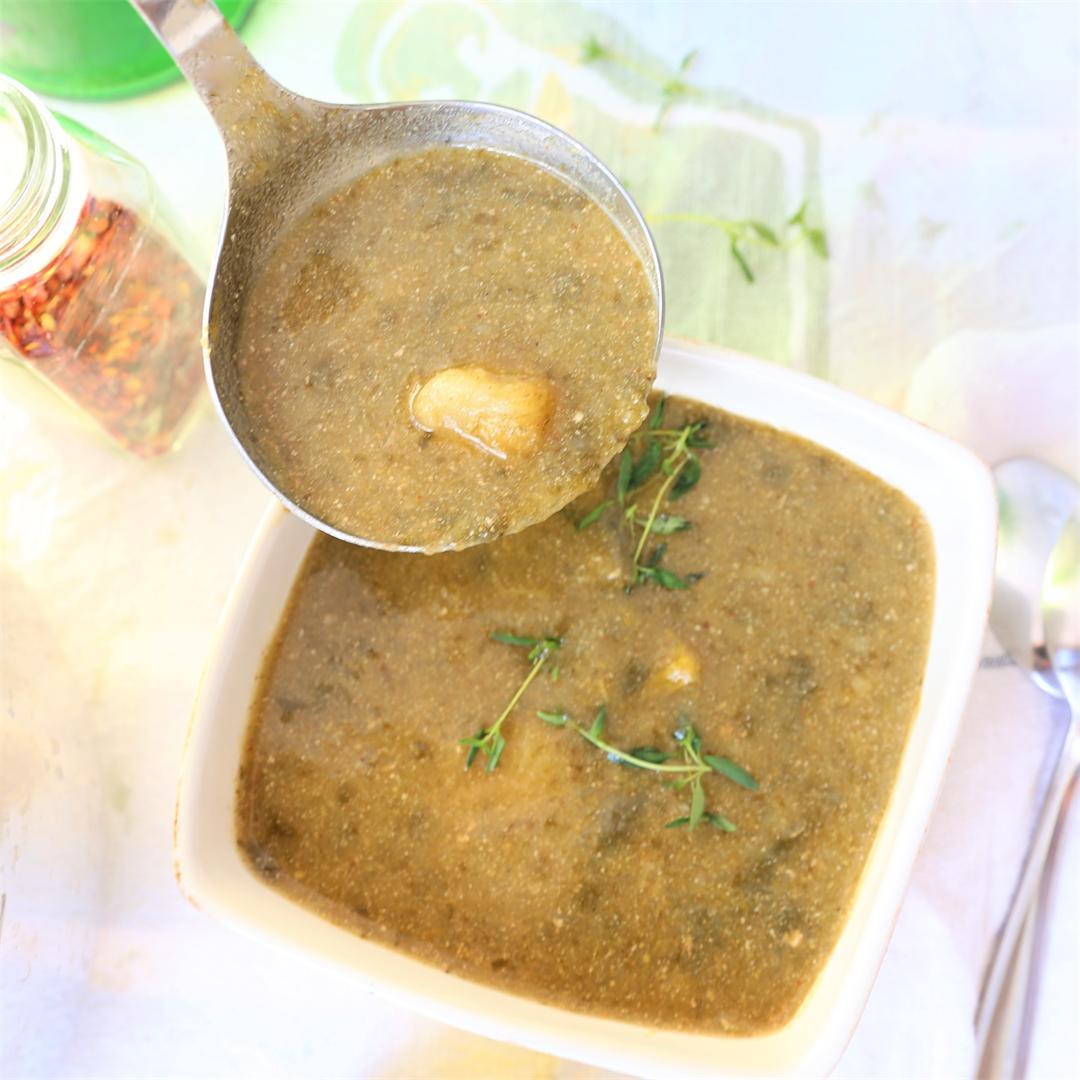 Potato Spinach Leek Soup Instant Pot
