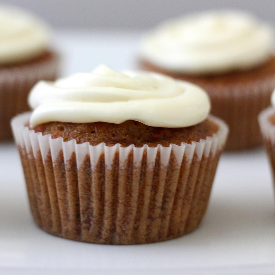 Masala Chai Carrot Cupcakes
