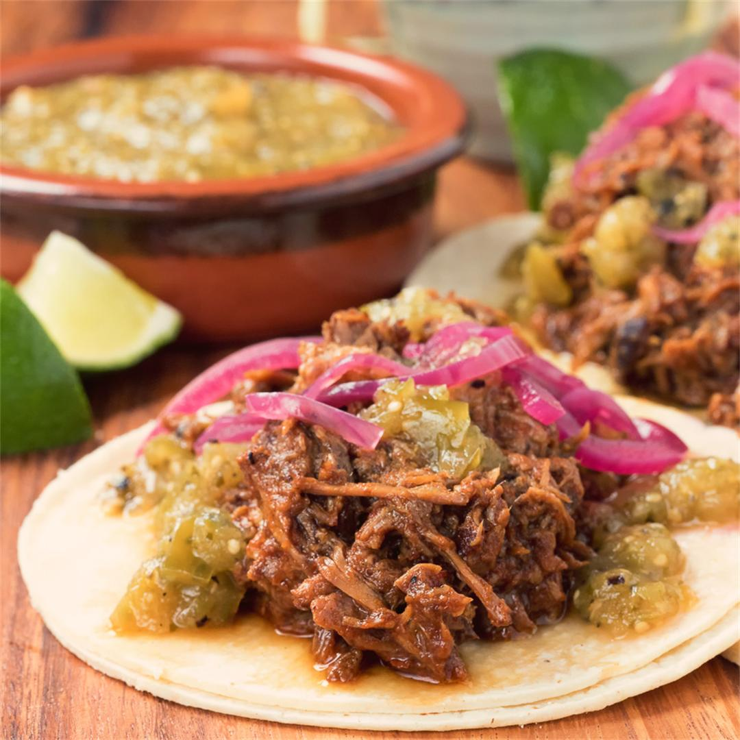 Better than taqueria beef barbacoa tacos!