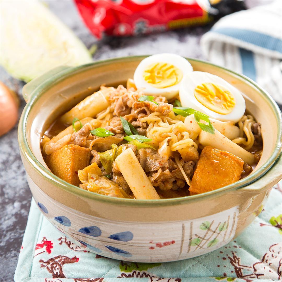 Rabokki (Korean Ramen & Rice Cakes)