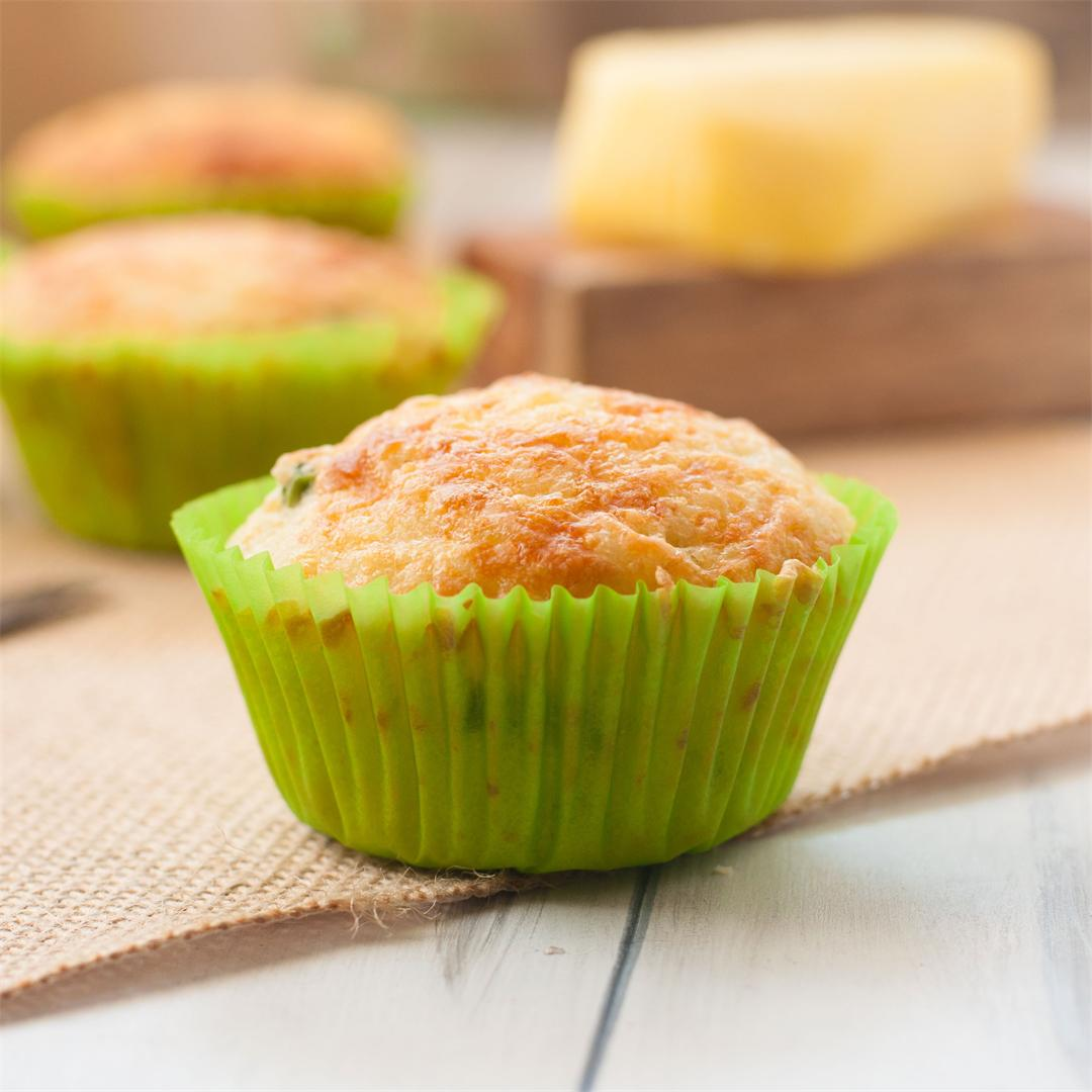 Savoury Vegetable and Cheese Breakfast Muffins