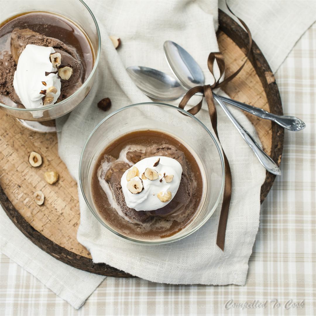 Chocolate Hazelnut Affogato