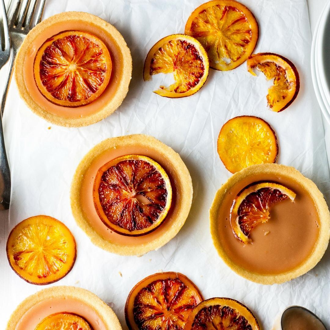 Mini Blood Orange Curd Tarts