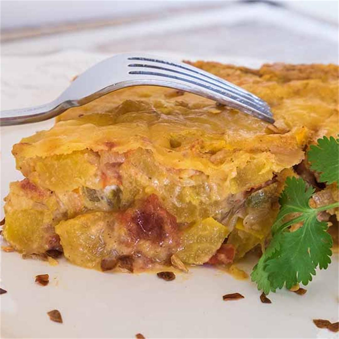 Gluten-Fre Tex Mex Squash Casserole