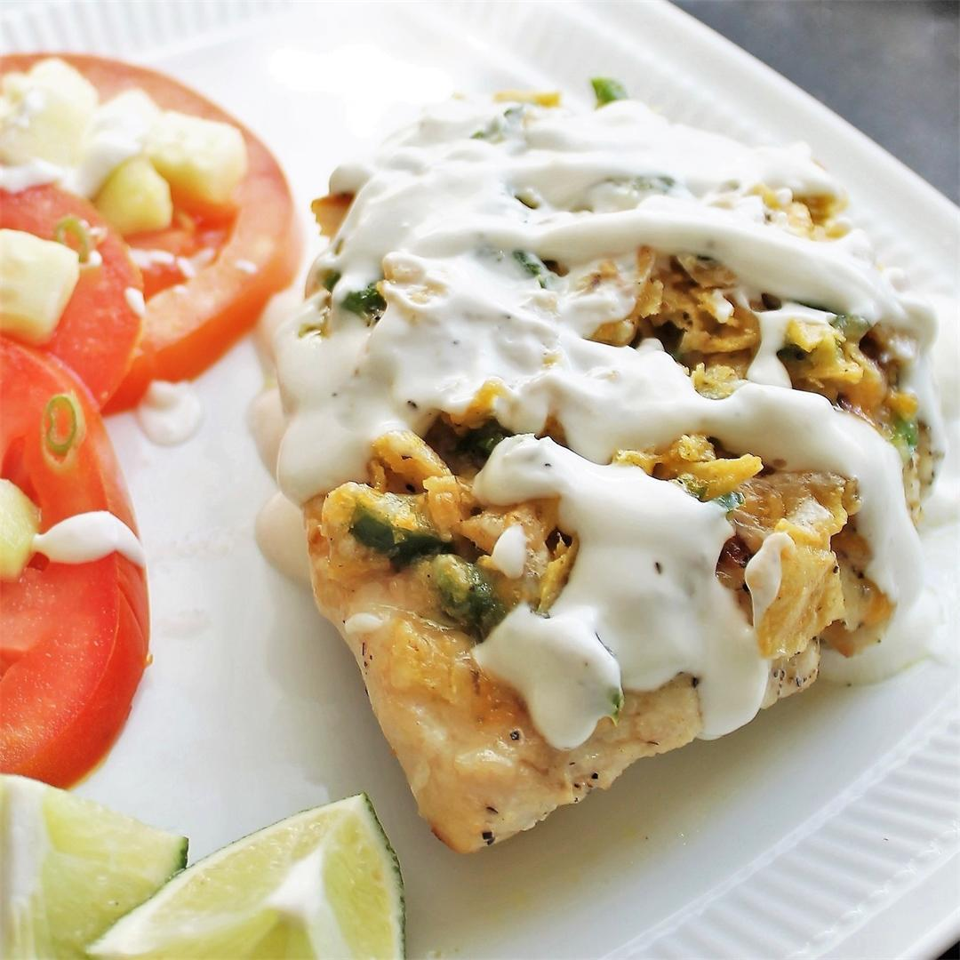 Tortilla Chicken with Lime Crema - simple and amazing