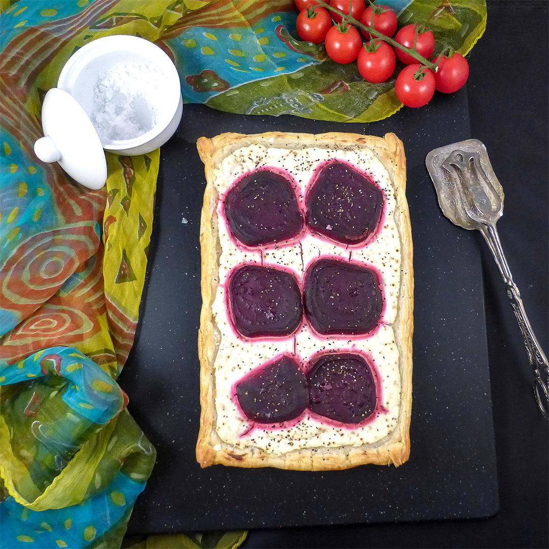 Beetroot and Black Pepper Savoury Puff Pastry