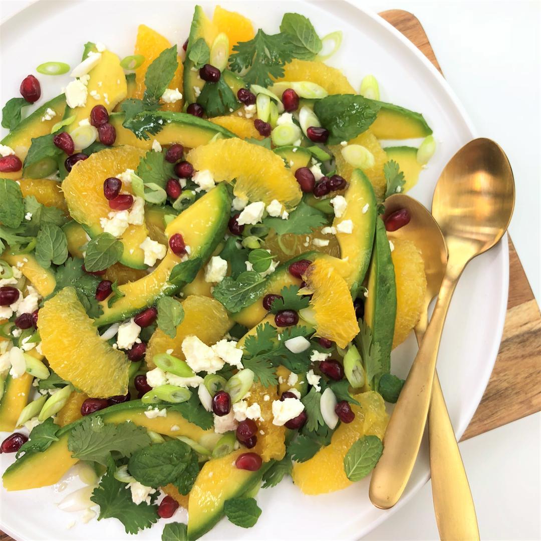 Orange Avocado Salad with Herbs