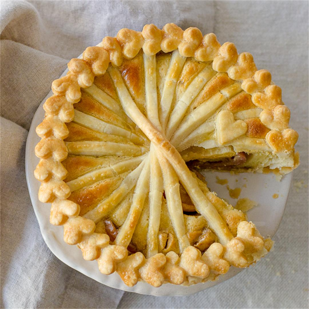 Apple Almond Pie with Flaky Vegan Crust