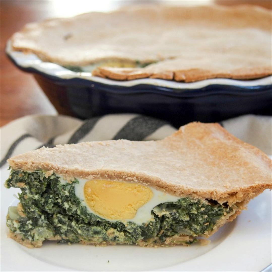 Torta pascualina - spinach ricotta pie