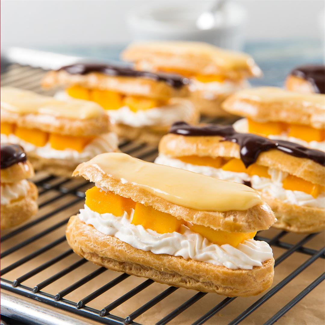 Mango & Cream Eclairs