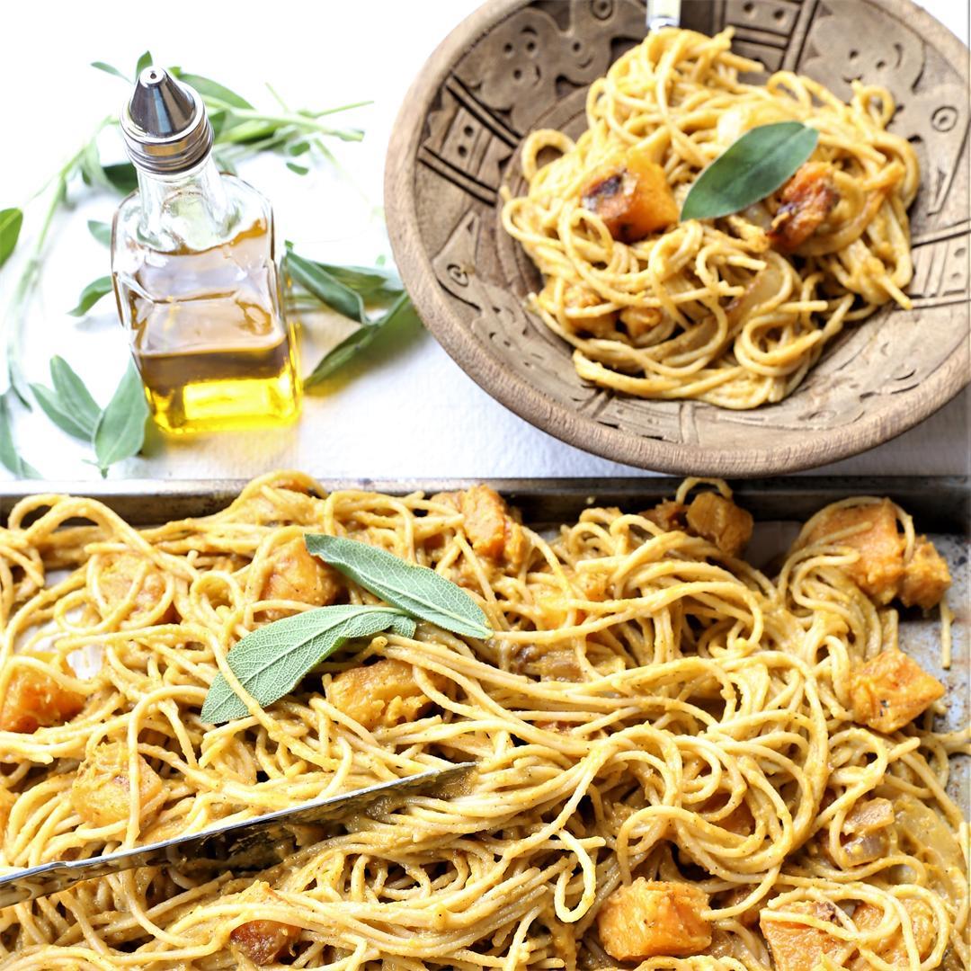 Grilled Butternut Sage Pasta