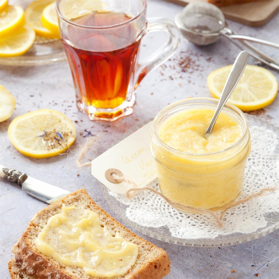 Small Batch Vanilla Lemon Curd